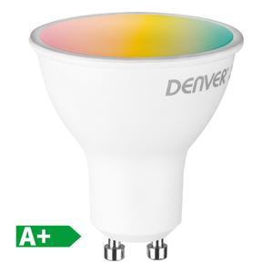 Denver WiFi-LED-Leuchtmittel Spot GU10, RGB + White Light