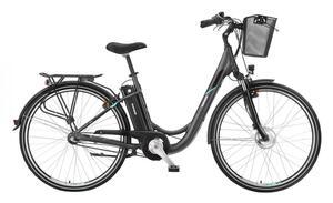Telefunken Damen City E-Bike RC840 Multitalent mit 7-Gang Shimano Nexus Nabenschaltung Anthrazit