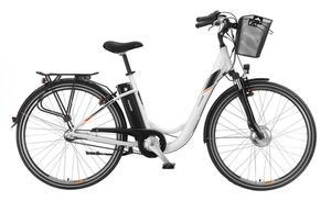 Telefunken Damen City E-Bike RC830 Multitalent mit 3-Gang Shimano Nexus Nabenschaltung Weiß