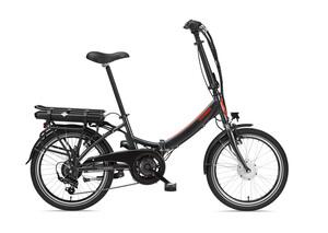 Telefunken E-Bike F810, Faltrad mit 7 Gang Kettenschaltung Anthrazit