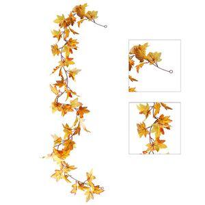 Deko-Blättergirlande Ahorn 178cm