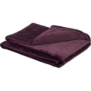 Fleece-Decke Blush Bordeaux Lila 150 cm x 200 cm
