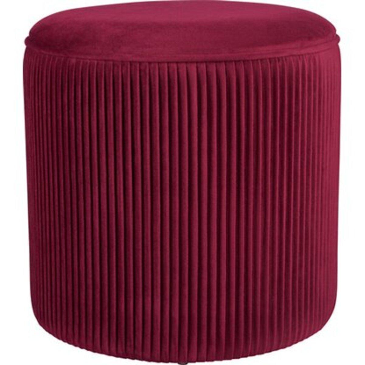 Bild 1 von Sitzhocker Blush Bordeaux MDF 40 cm x Ø 40 cm Burgunderrot