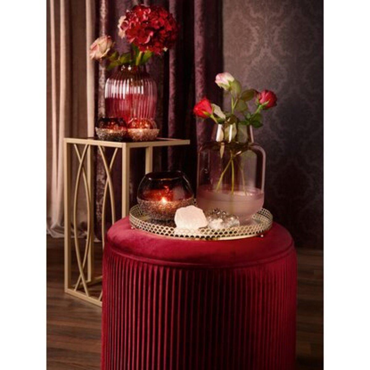 Bild 4 von Sitzhocker Blush Bordeaux MDF 40 cm x Ø 40 cm Burgunderrot
