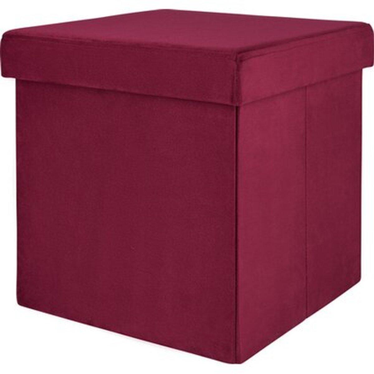 Bild 1 von Falt-Hocker Blush Bordeaux 38 cm x 38 cm x 38 cm Burgunderrot