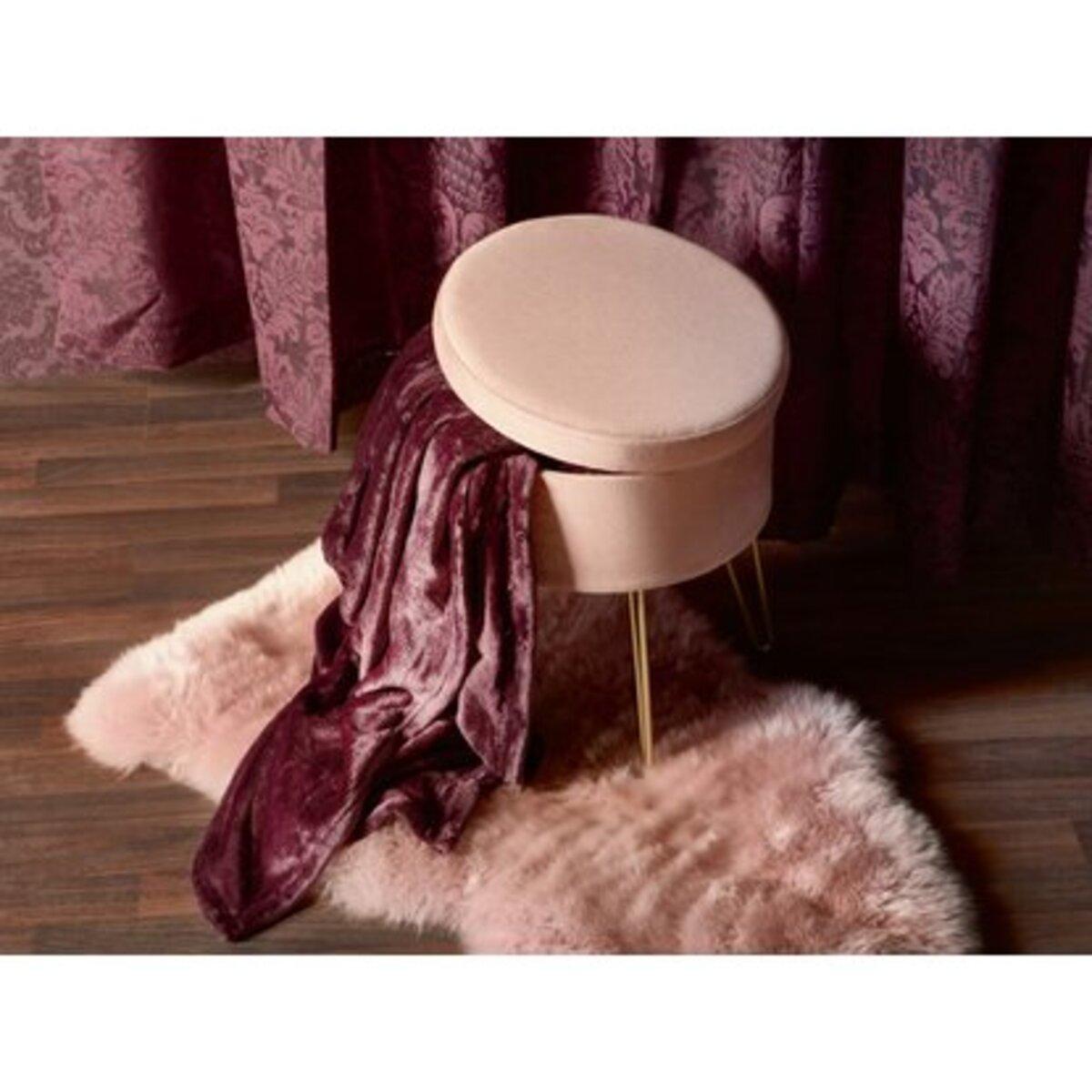 Bild 4 von Sitzhocker Blush Bordeaux MDF 45 cm x Ø 36 cm Rosa
