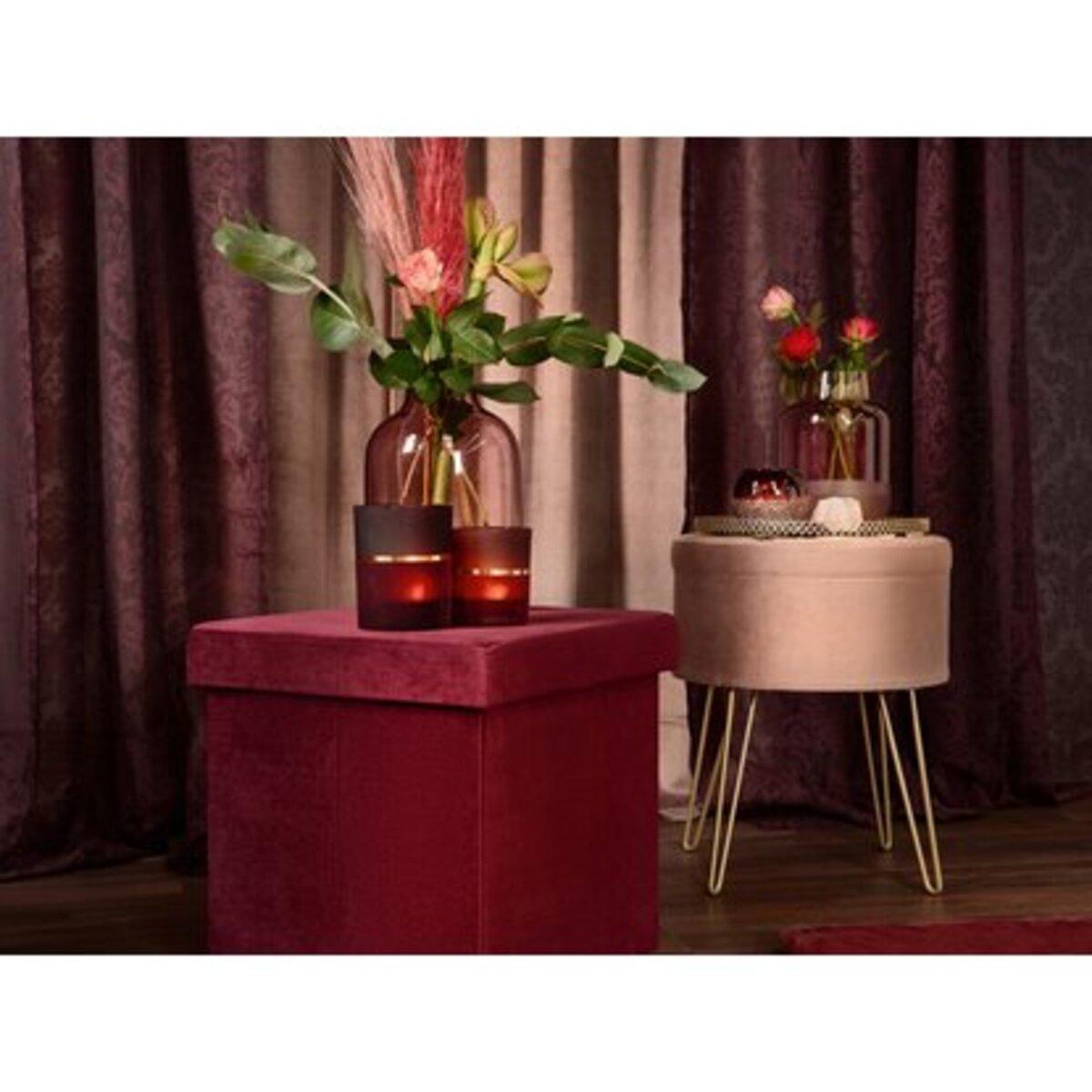 Bild 5 von Sitzhocker Blush Bordeaux MDF 45 cm x Ø 36 cm Rosa