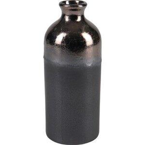 Vase Minimalist Zen Keramik 19,5 cm x Ø 7,6 cm Schwarz