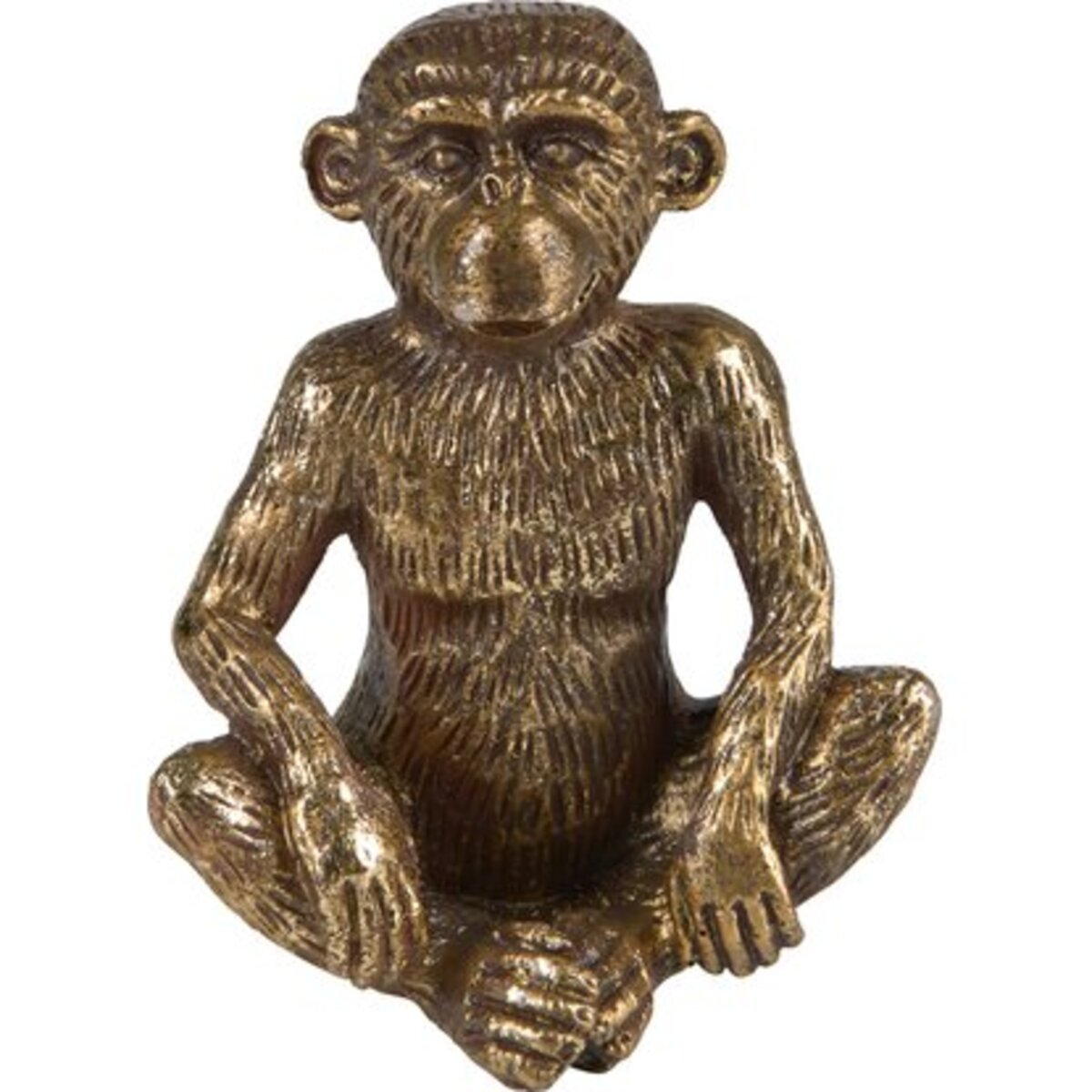 Bild 1 von Deko-Figur Affe Sitzend Safari Lodge 11 cm Gold