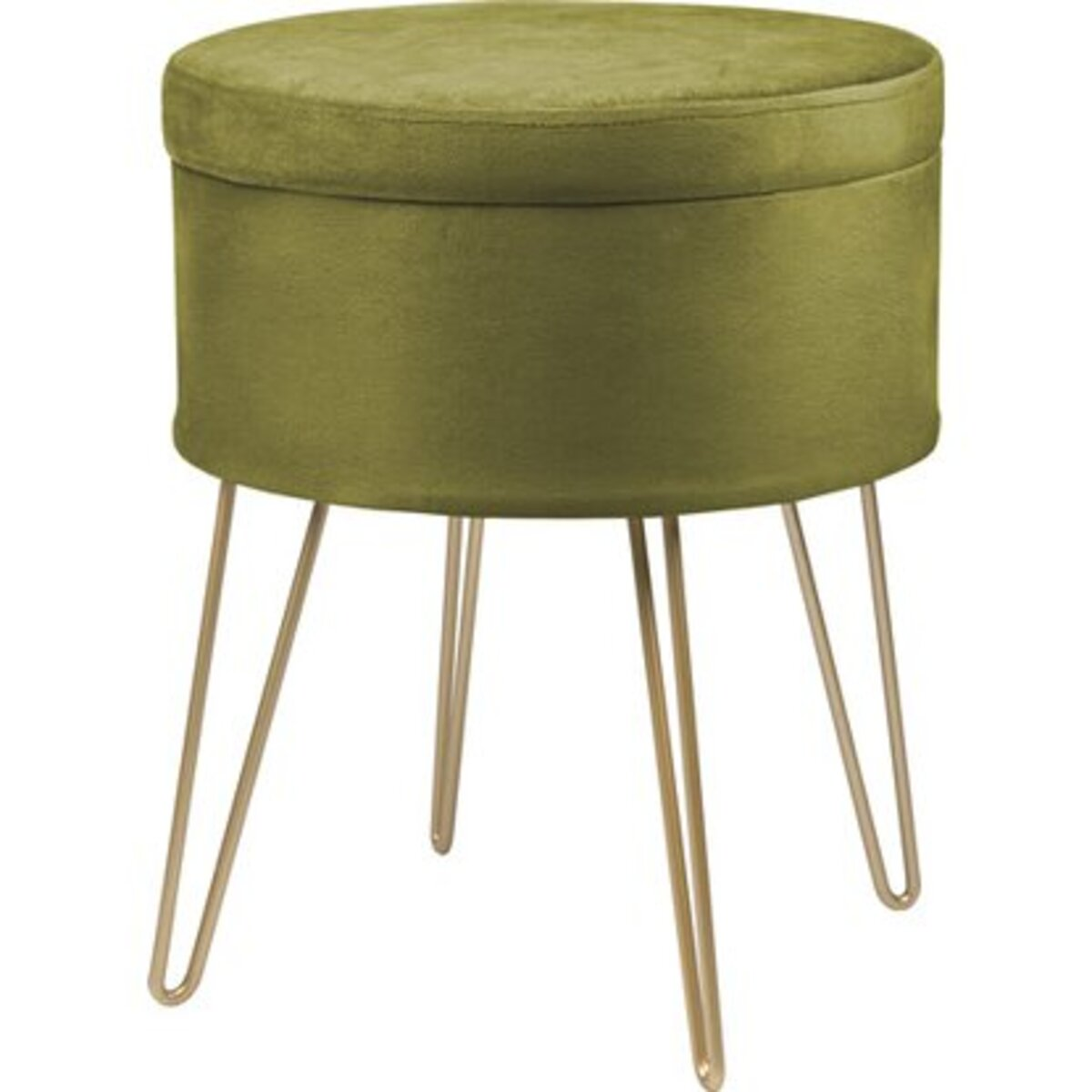 Bild 1 von Sitzhocker Safari Lodge MDF 45 cm x Ø 36 cm Grün