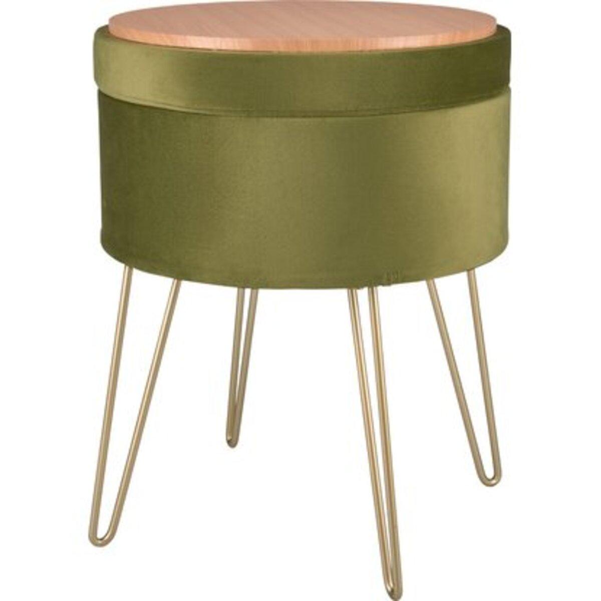 Bild 2 von Sitzhocker Safari Lodge MDF 45 cm x Ø 36 cm Grün
