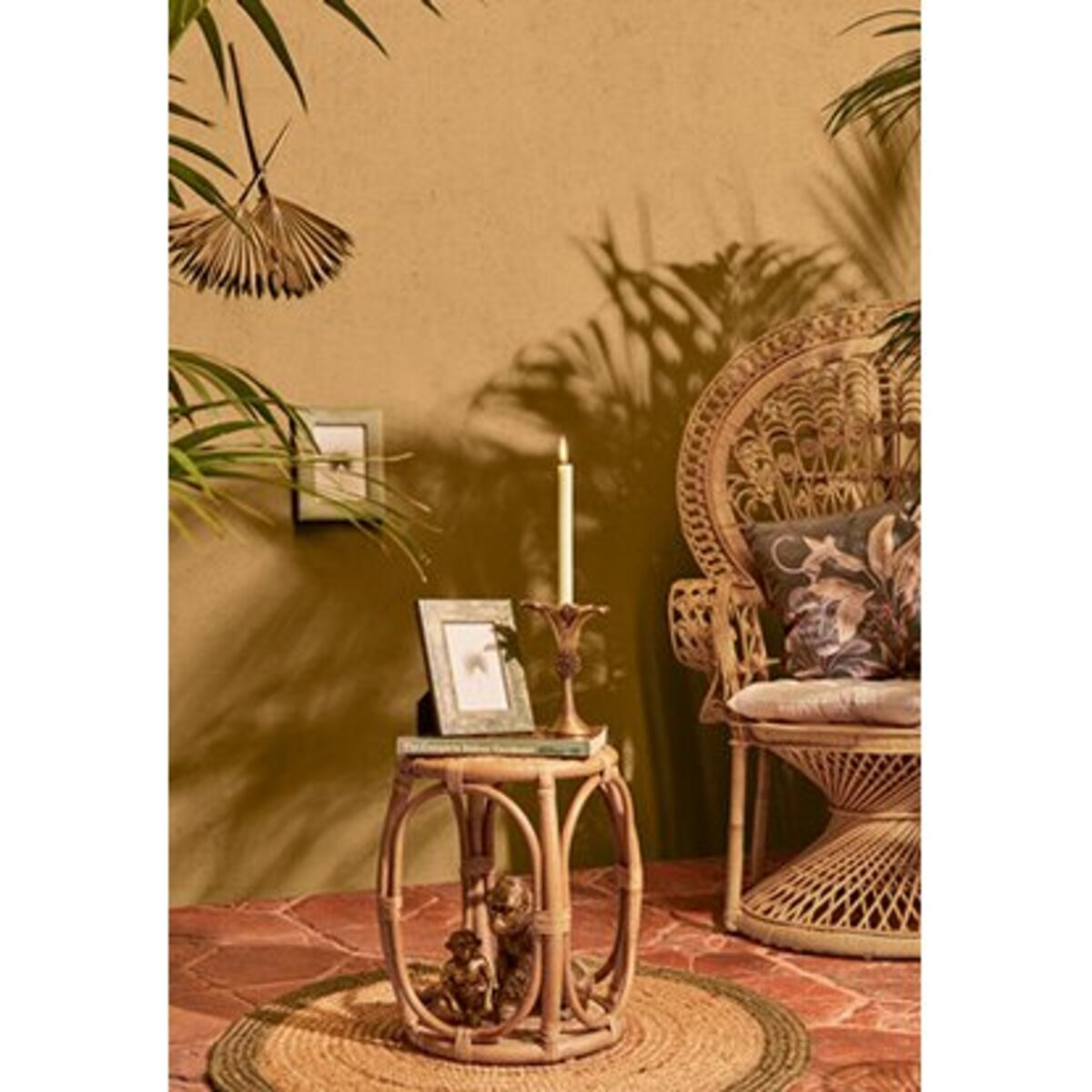Bild 2 von Deko-Figur Gorilla Sitzend Safari Lodge 22 cm Gold