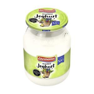 Ehrmann Allgäuer Joghurt 1,5/3,8 % Fett, jedes 500-g-Glas (+0,15 Pfand)