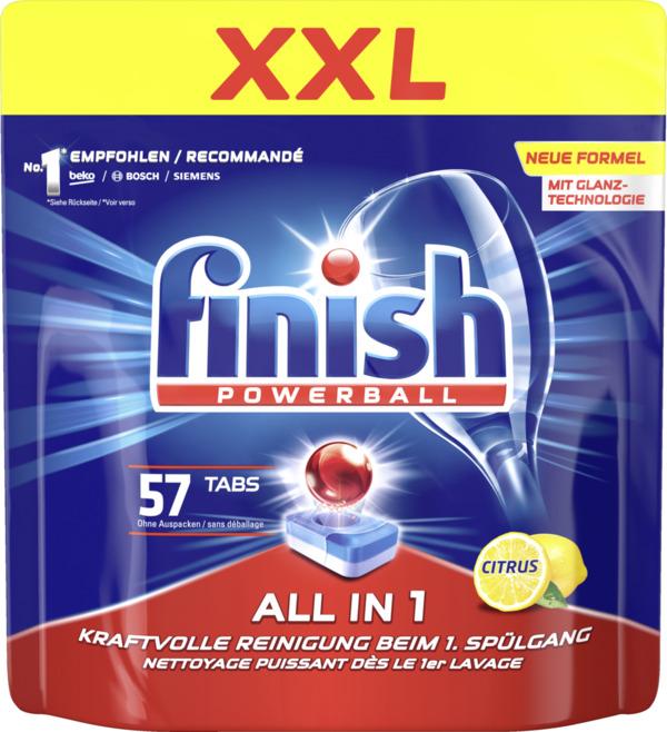 Finish Powerball All in 1 Geschirrspültabs, XXL