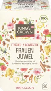 KING'S CROWN Bio Früchte- und Gewürztee Frauenjuwel