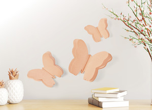 IDEENWELT 3D-Schmetterling-Aufkleber roségold