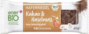 enerBiO Haferriegel Kakao & Haselnuss