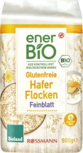 enerBiO Glutenfreie Haferflocken Feinblatt