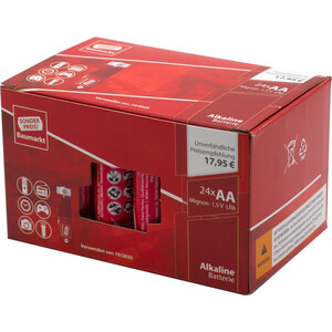 Sonderpreis Baumarkt Alkaline Batterien LR06 AA, 24 Stück