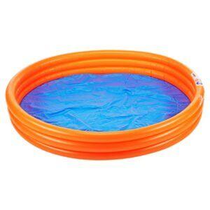 Simex Planschbecken 'Solid' blau/orange Ø 140 x 24 cm