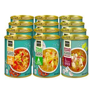 Satori Asia Suppe 400 ml, verschiedene Sorten, 12er Pack