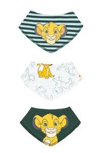 Baby Lätzchen, 3er Pack - versch. Lizenzen & Größen - König der Löwen für Jungen - Gr. 62/68