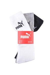 Puma Sportsocken 3er Pack - schwarz/weiß/grau - Gr. 39/42 (versch. Farben & Größen)