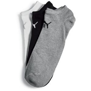 Puma Sneakersocken, 3er Pack - schwarz/weiß/grau - Gr. 43/46 (versch. Größen & Farben)