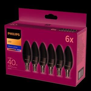 Philips LED Kerze 40W warmweiß 6er