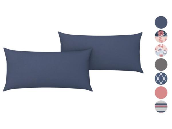 Livarno Home Renforcé Kissenbezug, 2 Stück, 40 x 80 cm