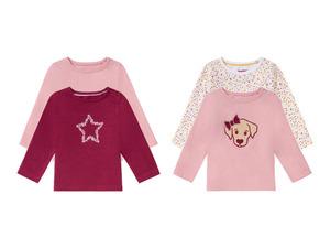 LUPILU® 2 Baby Mädchen Langarmshirts, mit Bio-Baumwolle