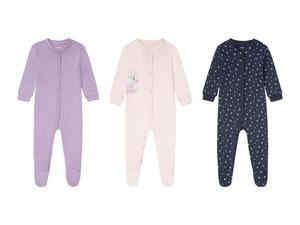 LUPILU® Baby Mädchen Schlafoverall, aus reiner Bio-Baumwolle