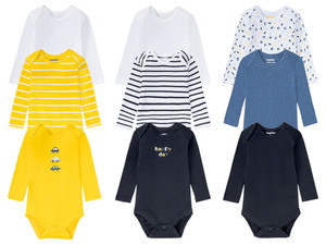 LUPILU® 3 Baby Jungen Bodies, Bio-Baumwolle