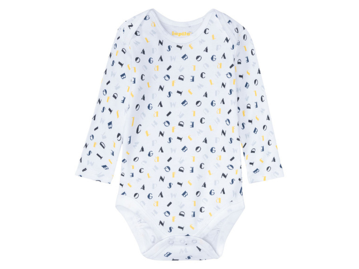 Bild 3 von LUPILU® 3 Baby Jungen Bodies, Bio-Baumwolle