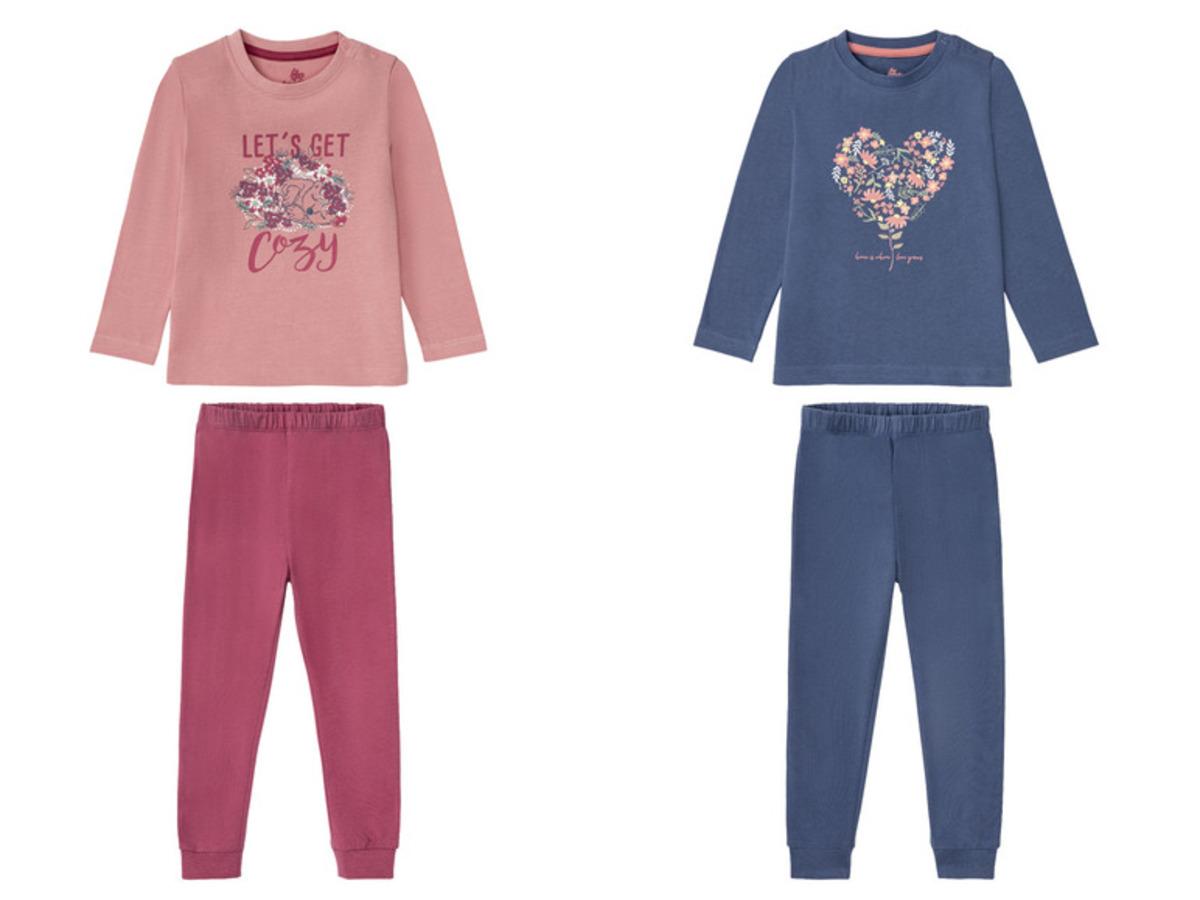 Bild 1 von LUPILU® Kleinkinder Pyjama Mädchen, aus reiner Baumwolle