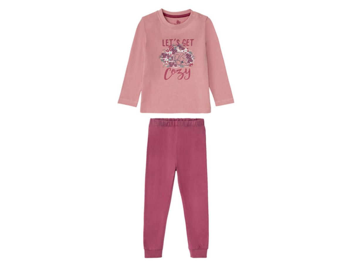 Bild 2 von LUPILU® Kleinkinder Pyjama Mädchen, aus reiner Baumwolle