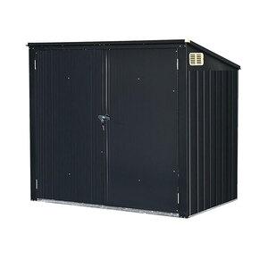Durabil              Mülltonnenbox für 2x240 L, Metall, anthrazit⁄grau