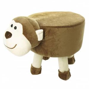 Sitzhocker - Affe - braun