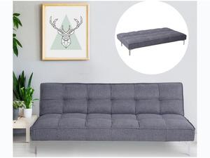 HOMCOM Schlafcouch als 3-Sitzer grau