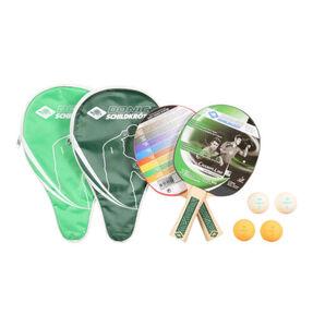 """DONIC SCHILDKRÖT Tischtennisschläger """"Champs Line"""", Set mit 2 Schlägern, Taschen, 4 Bällen, grün"""