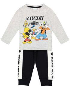 Set aus Langarmshirt und Hose mit Mickey Mouse-Print