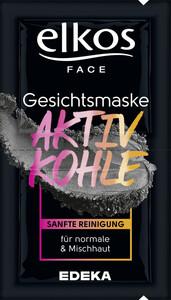 Elkos Gesichtsmaske Aktivkohle 2x 8 ml