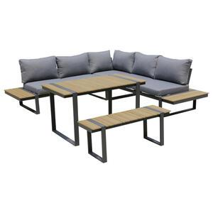 Ambia Garden Dining-loungeset anthrazit grau naturfarben