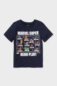 C&A Marvel-Kurzarmshirt-Bio-Baumwolle, Blau, Größe: 98