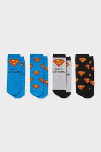C&A Multipack 4er-Superman-Baby-Socken, Blau, Größe: 15-17