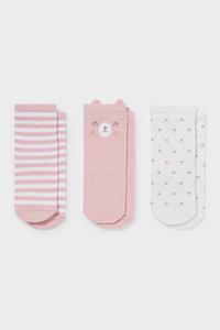 C&A Multipack 3er-Baby-Socken, Rosa, Größe: 12-13