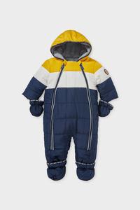 C&A Baby-Schneeanzug mit Kapuze-recycelt, Blau, Größe: 68