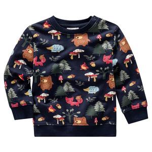 Baby Sweatshirt mit Waldtier-Allover
