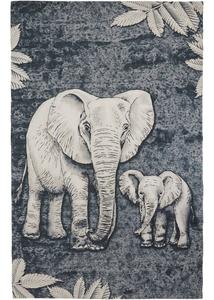 Teppich mit Elefanten Motiv