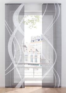 Schiebegardine mit graphischem Digitaldruck (2er Pack)
